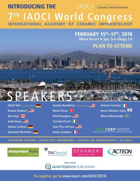 7th Annual World Congress of IAOCI in San Diego 15th-17th February 2018