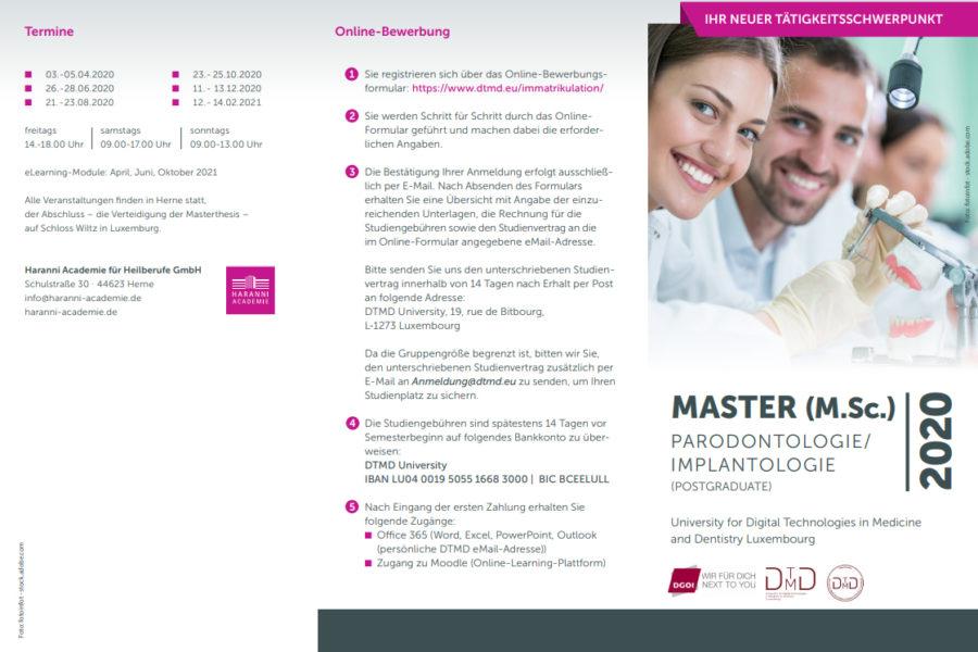 DGOI gewinnt BDO als Experte in zahnärztlicher Anästhesie für Masterstudiengang
