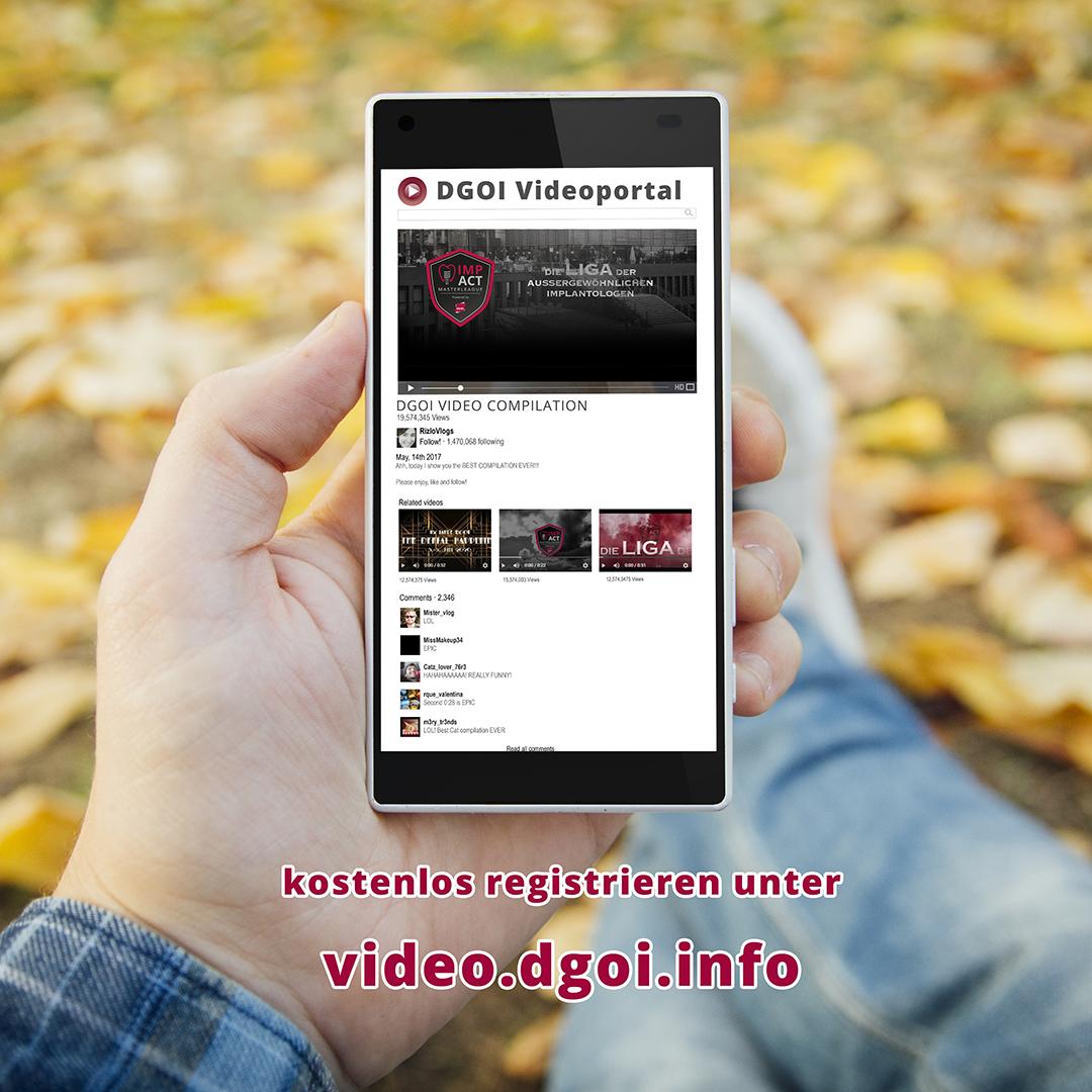 Nur ein Klick bis zum neuem Videoportal der DGOI